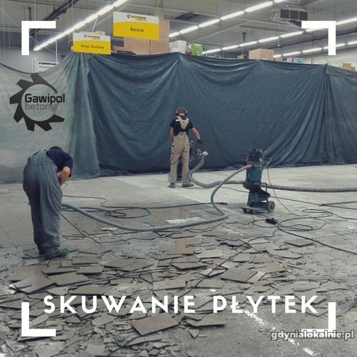 Skuwanie płytek, frezowanie kleju po płytkach Gdynia