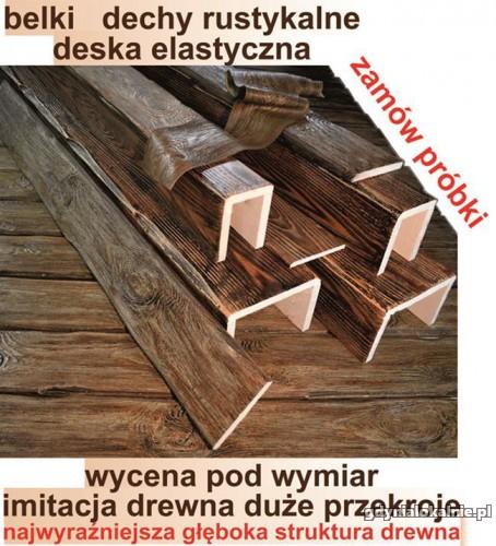 BELKI RUSTYKALNE Na Wymiar STARE DREWNO deska elastyczna na elewacje